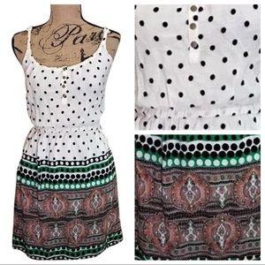 ANTHROPOLOGIE Lilka Polka Dot Paisley Boho Dress